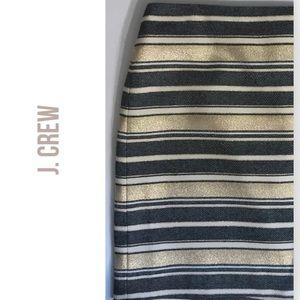 J Crew Factory Gold striped Skirt
